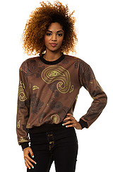 The Paisley Crewneck in Maroon