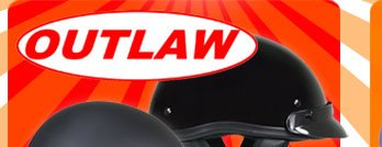 Save on Outlaw T-70 DOT approved Half-Helmet
