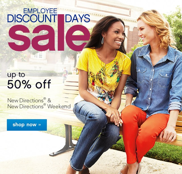 Employee Discount Sale. 30% off New Directions. Shop now.