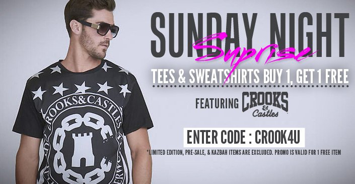 Click to Shop Sunday Night Suprise: Crooks & Castles