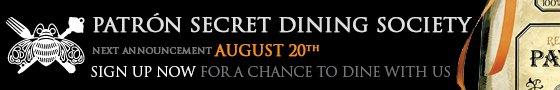 Patrón Secret Dining Society