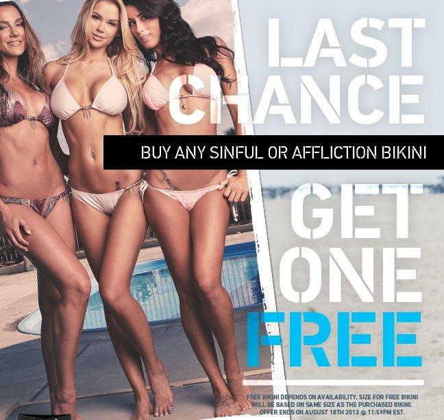 Last Chance to get a Free Bikini