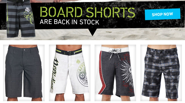 Board Shorts Are Back In Stock