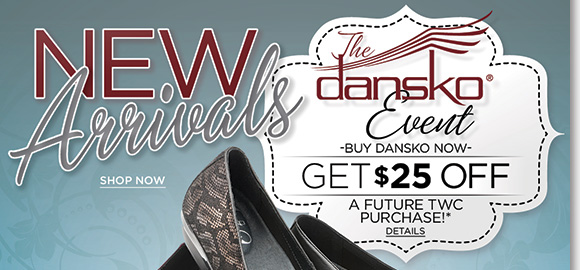 Shop the stylish NEW 'Marseille' Collection from Dansko! Your #1 Dansko source, find new colors and styles, plus all your classic favorites and save $25 on your next The Walking Company purchase when you buy Dansko today!* Find the best selection when you shop now at The Walking Company.