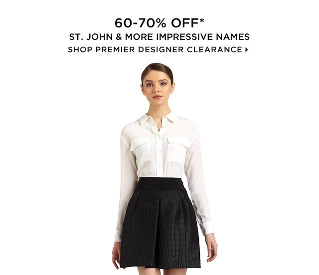 60-70% Off* St. John & More Impressive Names