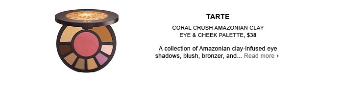 TARTE. Coral Crush Amazonian Clay Eye & Cheek Palette, $38. new . online only . limited edition