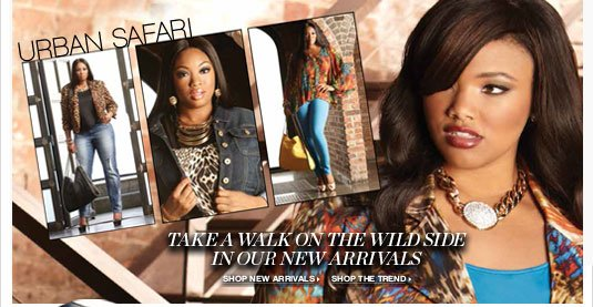 Urban Safari : Take a walk on the wild side in our new arrivals.
