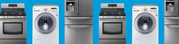 Washer, Range and Refrigerator