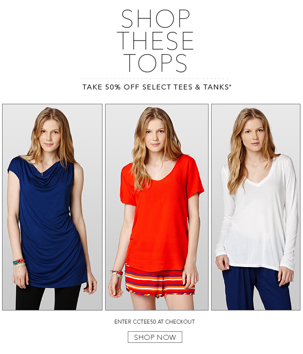 Shop These Tops - Take 50% Off!