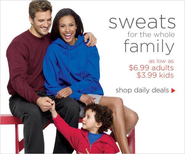 Sweats as low as $3.99
