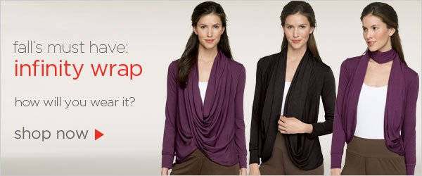 Shop now on Fall's must have Infinity Wrap
