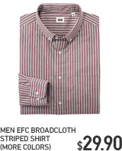 MEN EFC BROADCLOTH STRIPED SHIRT