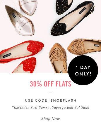 30% Off Flats