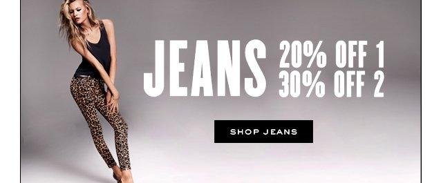 JEANS 20 percent off 1. 30 percent off 2. Shop Jeans.