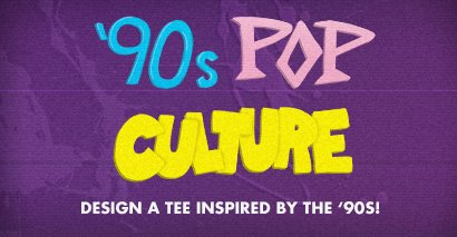 Design a tee inspired by the '90s