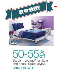 50-55% off Student Lounge furniture and decor. Select styles. Shop now