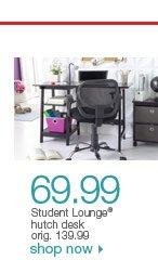$69.99 Student Lounge hutch desk. orig. 139.99. Shop now