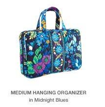 Medium Hanging Organizer in Midnight Blues