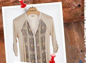 Daytrip Pieced Chiffon Shirt
