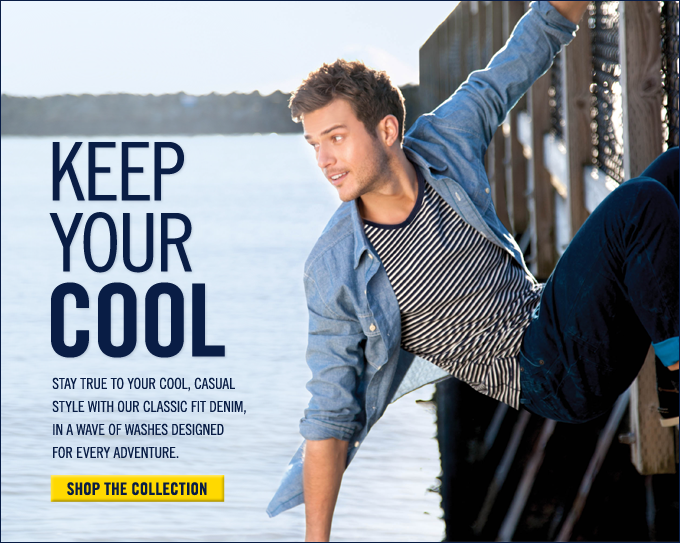 Stay true to your cool, casual style with our classic fit denim. Shop now!