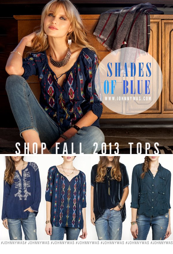 Shop Shades of Blue...Fall 2013 Tops!
