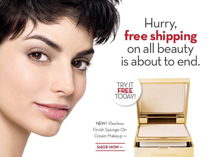Hurry, free shipping on all beauty is about to end. TRY IT FREE TODAY! NEW! Flawless Finish Sponge-On Cream Makeup. SHOP NOW.