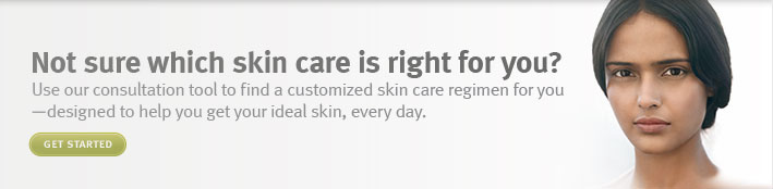 not sure which skin care is right for you. get started.