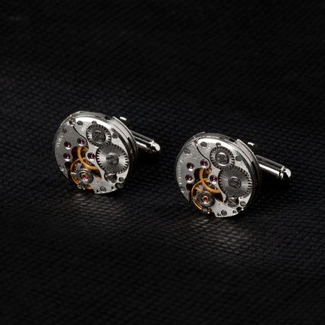 Round Watch Movement Cufflinks