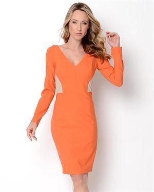 Rachel Roy Two-Toned Long Sleeve Wool Dress