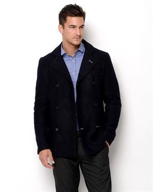 JC Rags Double Breasted Wool Coat