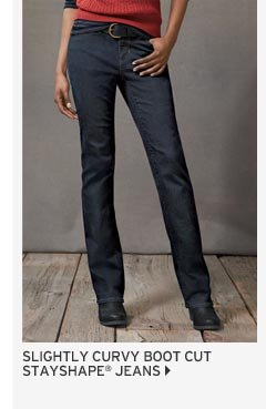 Slightly Curvy Boot Cut Jeans - StayShape®