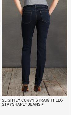 Slightly Curvy Straight Leg Jeans - StayShape®