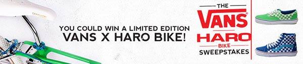 Enter to Win a Vans X Haro Bike!