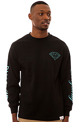 The Diamond Everything LS Tee in Black