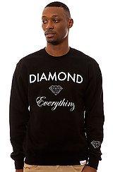 The Diamond Everything Sweatshirt in Black
