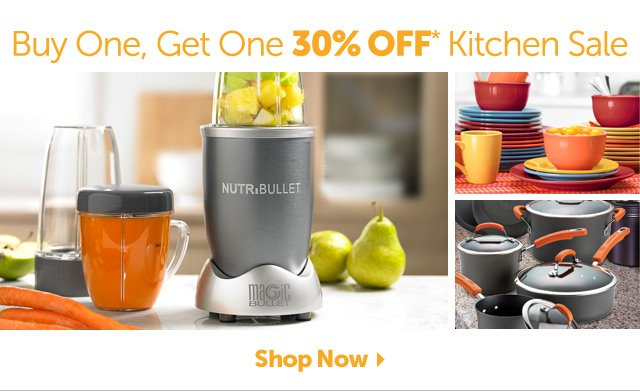 Buy One, Get One 30% OFF* Kitchen Sale - Shop Now