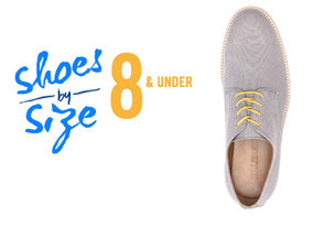 Shop Shoes By Size: 8 and under
