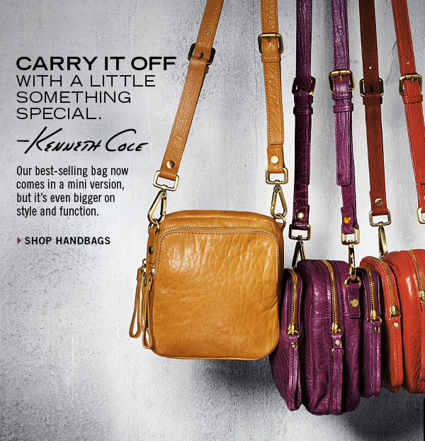 Our best-selling bag now    comes in a mini version, but it's even bigger on style and function. SHOP HANDBAGS