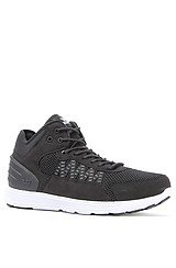 The Owen Mid Sneaker in Black Mesh & Reflective Accents