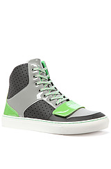 The Cesario X Sneaker in Charcoal, Smoke, & Green