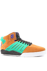 The Skytop III Sneaker in Light Brown Suede, Translucent Teal, & Purple Accents
