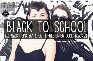 All Black Items: Buy 1, Get 1 Free