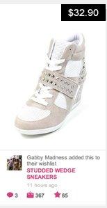 Studded Sneaker Wedge