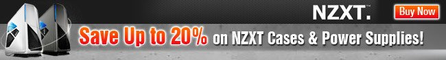 NZXT - Save Up to 20% on NZXT case & Power Supplies! Buy Now.