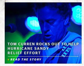 Tom Curren Rocks Out To Help Hurricane Sandy Relief Effort
