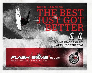 Mick Fanning - The Best Just Got Better - Flash Bomb Plus - 2X SIMA Image Awards Wetsuit of The Year