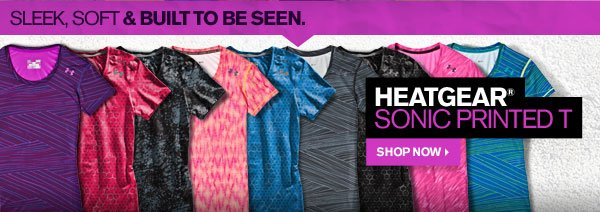 HEATGEAR® SONIC PRINTED T - SHOP NOW