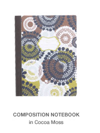 Composition Notebook in Coca Moss