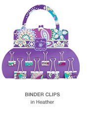 Binder Clips in Heather