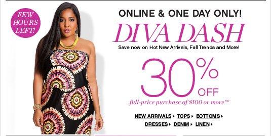 Diva Dash 30% Off